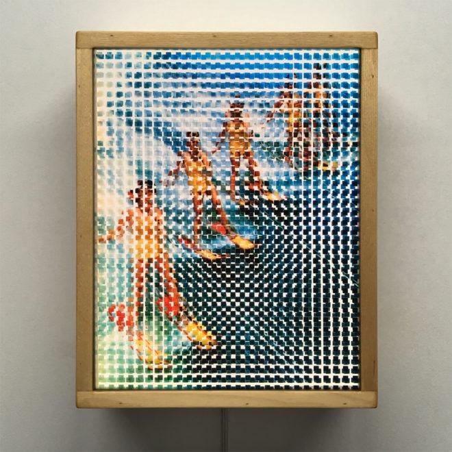 Pixelated Vintage Water Ski Team- 11x9 Lightbox by Mini-Cinema / Hugo Cantin