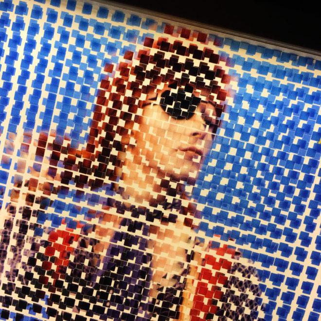 Pixelated Ziggy Stardust - Bowie Homage - 12x12 Lightbox by Mini-Cinema