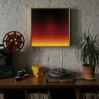 Plus Halftone Pattern Fuego - Graphic Art Optical Effect - 20×20 Lightbox by Mini-Cinema / Hugo Cantin