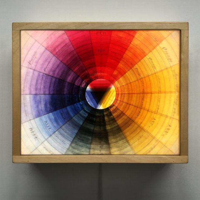Prismatic Color Wheel - Multiple Print Depth Effect - 12x12 Lightbox by Mini-Cinema / Hugo Cantin