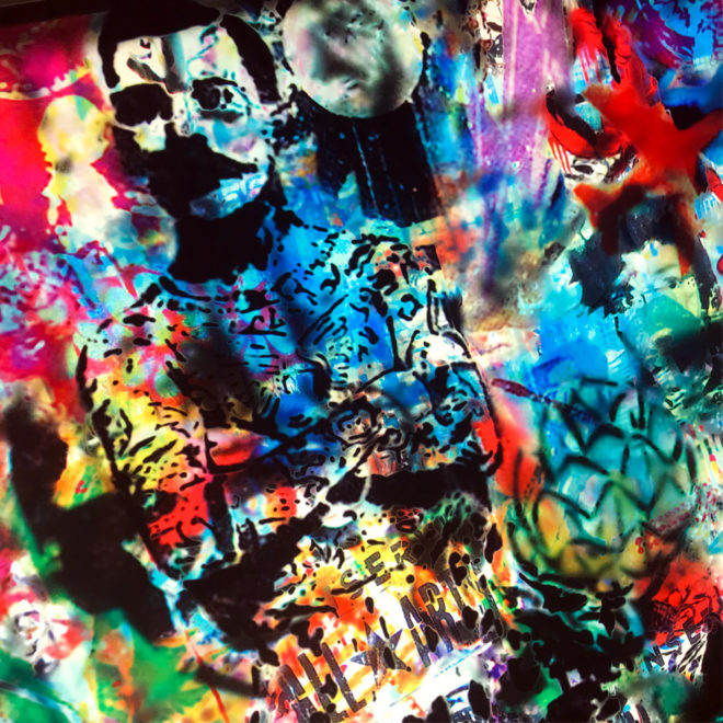 Tegui Graffiti Mashup - Multiple Print Depth Effect - Lofty 20×30 Lightbox by Mini-Cinema / Hugo Cantin