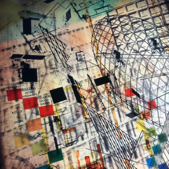The Architect Masterplan - Multiple Print Depth Effect - Lofty Large-scale 36×36 Lightbox by Mini-Cinema / Hugo Cantin