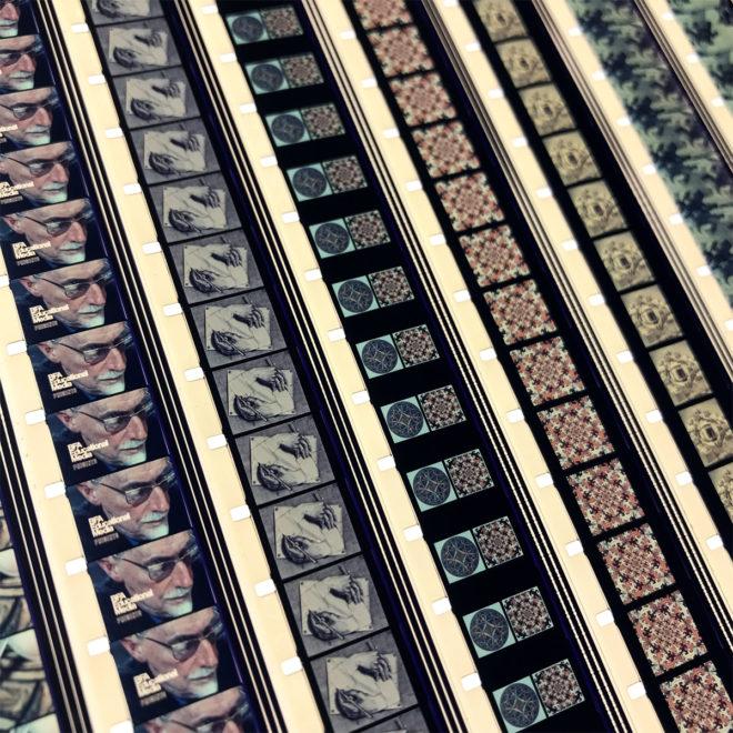 M.C. Escher 1971 Adventures in Perception - 16mm Film Collage - 11x9 Lightbox by Mini-Cinema -
