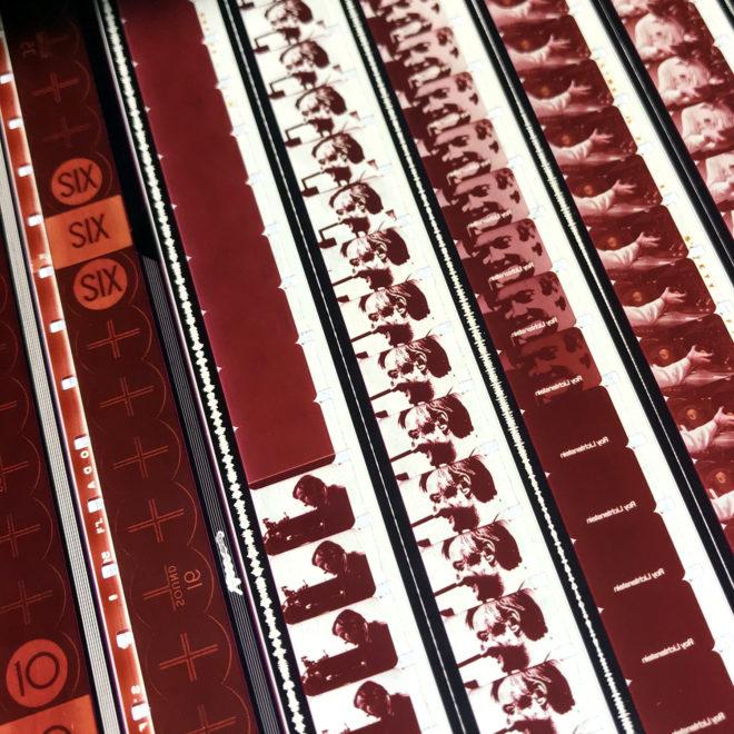 Roy Lichtenstein 1971 Three Landscapes Film Installation - Rare 16mm Film Collage - 20x20 Lightbox by Mini-Cinema : Hugo Cantin -close1