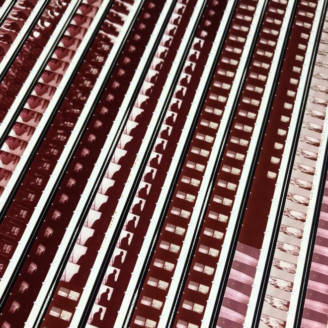 Roy Lichtenstein 1971 Three Landscapes Film Installation - Rare 16mm Film Collage - 20x20 Lightbox by Mini-Cinema : Hugo Cantin -close2
