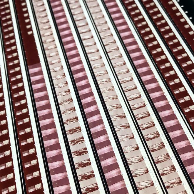 Roy Lichtenstein 1971 Three Landscapes Film Installation - Rare 16mm Film Collage - 20x20 Lightbox by Mini-Cinema : Hugo Cantin -close3