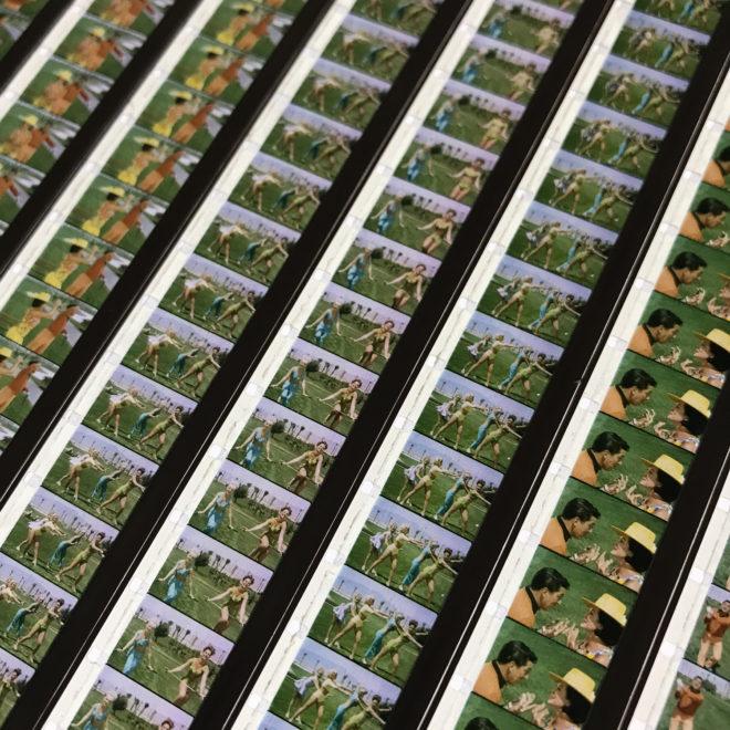 Tweedle-Dee Scopitone Jukebox Campy Golf Lesson - 16mm Film Collage - Lofty 58x14 Lightbox by Mini-Cinema : Hugo Cantin -close3