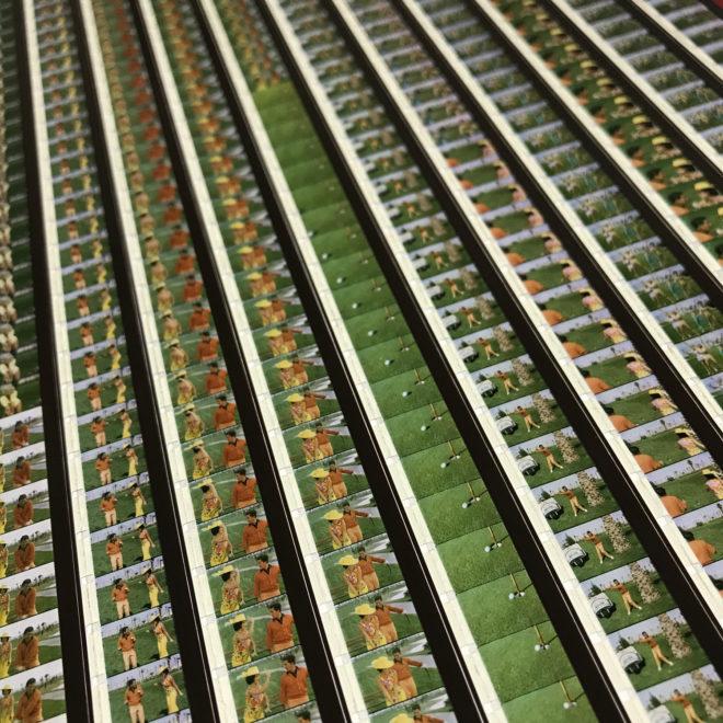 Tweedle-Dee Scopitone Jukebox Campy Golf Lesson - 16mm Film Collage - Lofty 58x14 Lightbox by Mini-Cinema : Hugo Cantin -close4