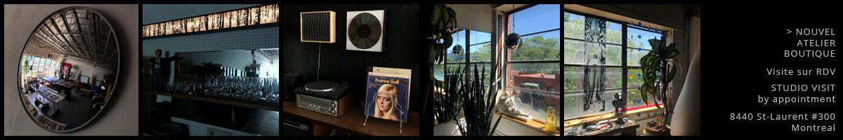 Banner Mini-Cinema Atelier, Galerie, Boutique – Studio Visit by appointment